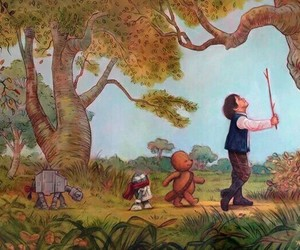star wars, winnie the pooh, and han solo image