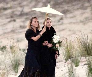 beach, black dress, and olsen image