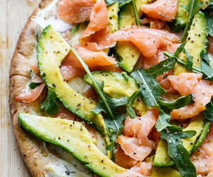 food, avocado, and pizza image