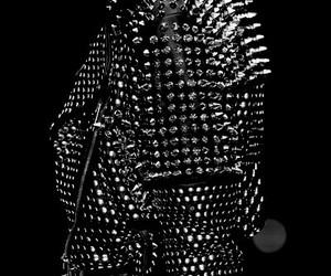 black, leather jacket, and color black image