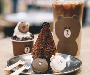 bear, Cookies, and line friends image