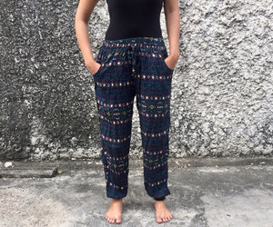 bohemian, harem pants, and hippie image