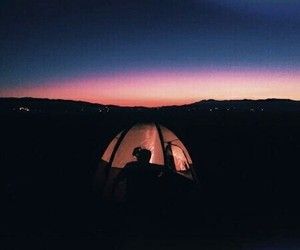 sky, camping, and summer image
