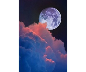 moon, love, and clouds image
