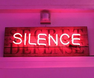 neon, silence, and pink image