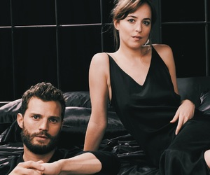 Jamie Dornan, dakota johnson, and outfit image
