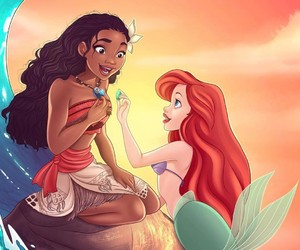 ariel, little mermaid, and disney image