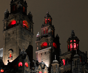 castle, red, and gothic image