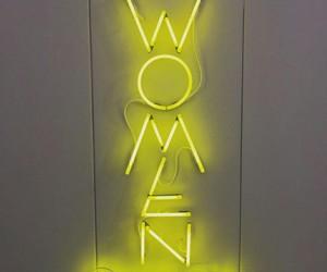 feminism, neon, and yellow image
