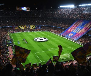 fc barcelona and camp nou image