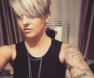 pixie, tattoo girl, and pixie hair image