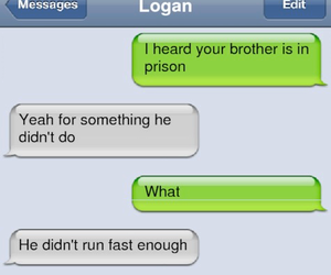 brother, funny, and chat image