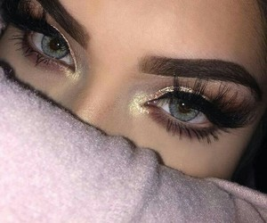 makeup, eyes, and girl image