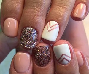 nail, sparkle, and cute image