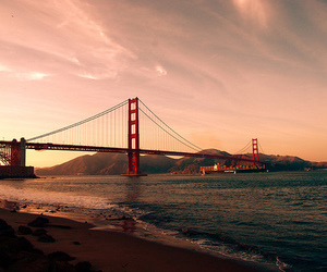 bridge, city, and golden gate image