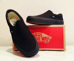 black, vans, and zapatos image