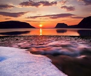 sunset, beautiful, and sun image