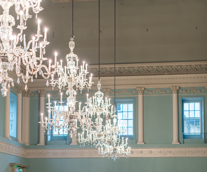chandelier, decor, and design image