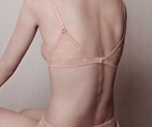 back, lingerie, and semi nude image