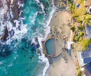 beach, california, and wanderlust image