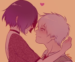 tokyo ghoul, anime couples, and kaneki ken image