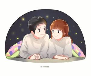 love, descendants of the sun, and couple image