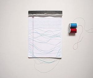 lines, Paper, and thread image