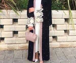 abaya, fashion, and hijab image