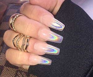 holographic, nails, and oil spill image
