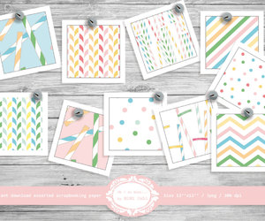 etsy, scrapbooking, and patterned paper image