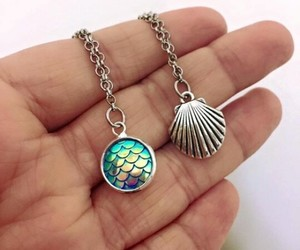 mermaid, accessories, and necklace image