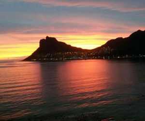 cape town, sunset, and table mountain image