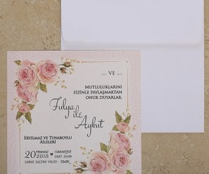 wedding invitation, davetiyeler, and iklim davetiye image
