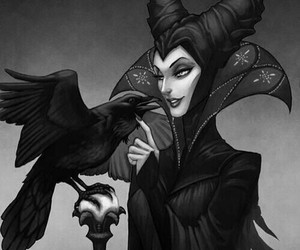 maleficent, disney, and art image