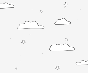 aesthetic, clouds, and drawing image