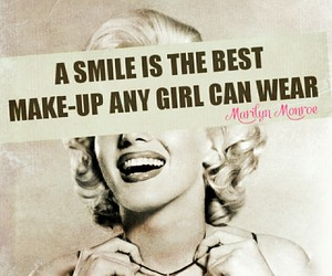 make up, Marilyn Monroe, and quotes image