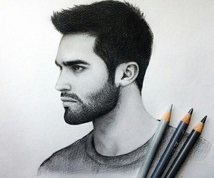 drawing, teen wolf, and draw image