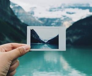 polaroid, photography, and blue image