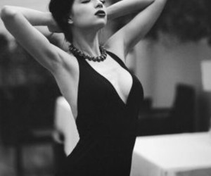 black and white, dress, and women image