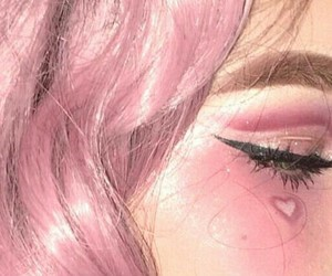 pink, heart, and makeup image