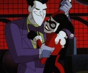 harley quinn, joker, and DC image