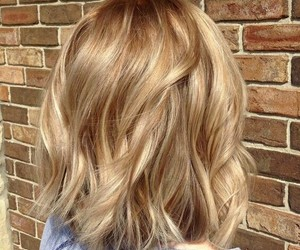 blonde, caramel, and highlight image