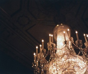 chandelier, hipster, and light image