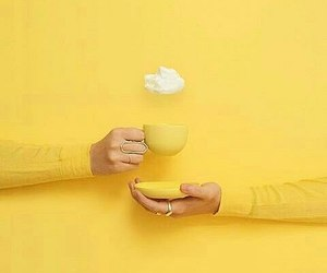 yellow, aesthetic, and cup image