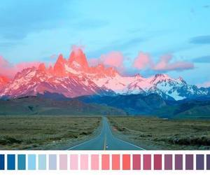 color scheme, woah, and sunset image