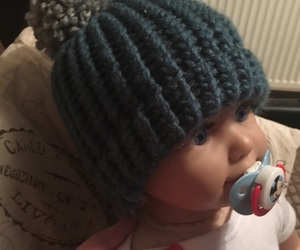 babies, crochet, and baby hat image