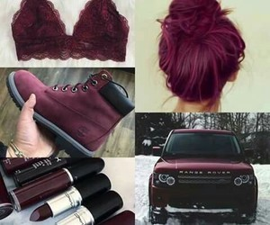 hair, car, and lipstick image