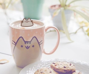 pusheen, cat, and Cookies image