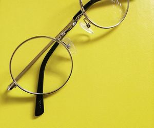 yellow and glasses image