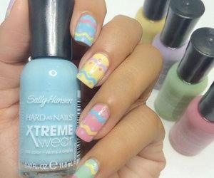 easter nails, easter egg nails, and easter egg nail art image